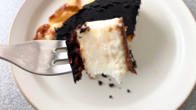 冷たいバスクチーズケーキ