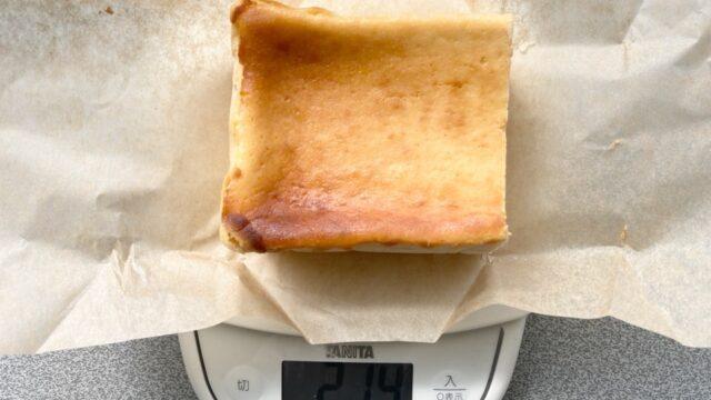 チーズケーキ ホリックのクリームチーズケーキのボリューム